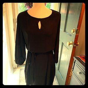 Black mid length dress